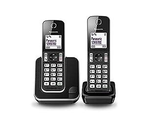telefonos: Panasonic KX-TGD312SPB - Teléfono Fijo Digital (Bloqueo de Llamadas, hasta 16 Ho...