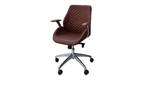 Bürodrehstuhl Designer Drehstuhl Chefsessel PANTERA braun