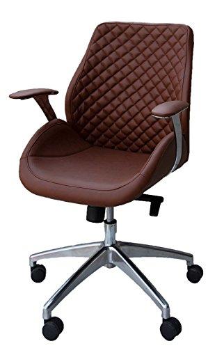 Bürodrehstuhl Designer Drehstuhl Chefsessel PANTERA braun ClassicCarSeat 212625