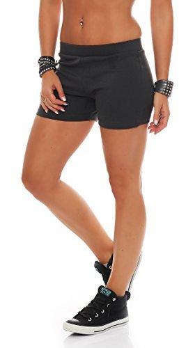 Gennadi Hoppe Pantalons chauds pour femmes Hotpants Gris