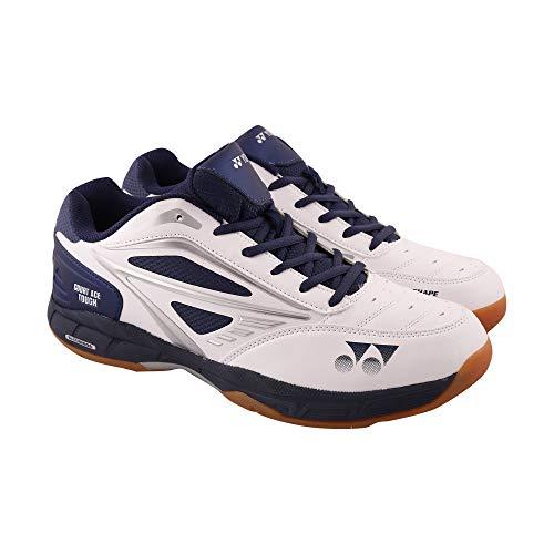 Yonex Court Ace Tough White Navy Black Badminton Shoes for Men, Women and Kids
