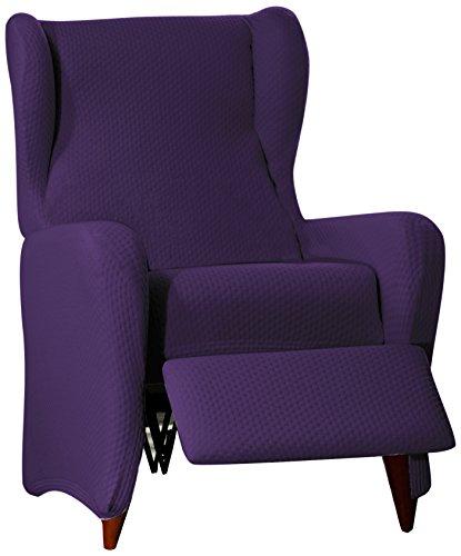 Sucre Sofa Überwurf Relaxsessel Fb. 02-violett