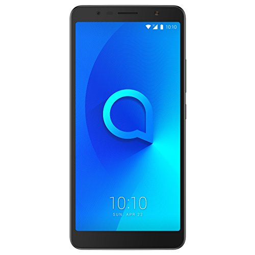 "Foto Alcatel 3C Smartphone da 16 GB, Dual SIM, Display da 6"" 18:9, Nero"