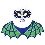 BESTOYARD Drachen-Kostüm mit Maske und grünen Flügeln für Halloween Kinder-Kostüm