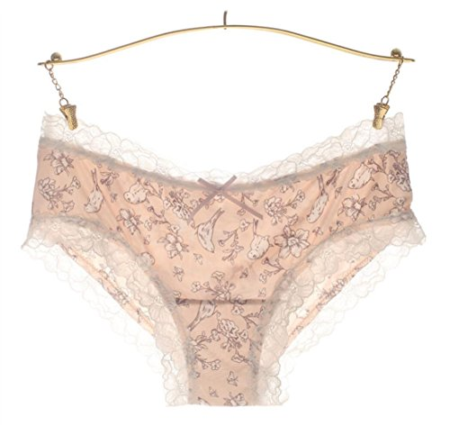 Underpants Lace Dame Unterwäsche Muster Eis Seide Damen Unterwäsche Versuchung (elegant keine Spur) (36, Hundert Vögel kämpfen) Lutscher Höschen