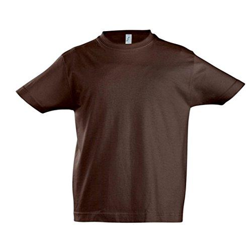 SOL'S - Camiseta de manga corta - para niño Marrón chocolate 4 años