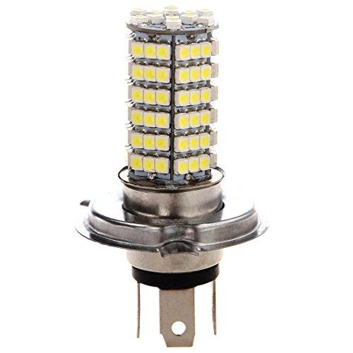 SODIAL(R) 2 X H4 120 SMD LED luz bombilla blanca 12V para Coche