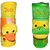 CHINMAY Kids Baby Feeding And Nursing Bottle Cover Combo (Yellow, Green)