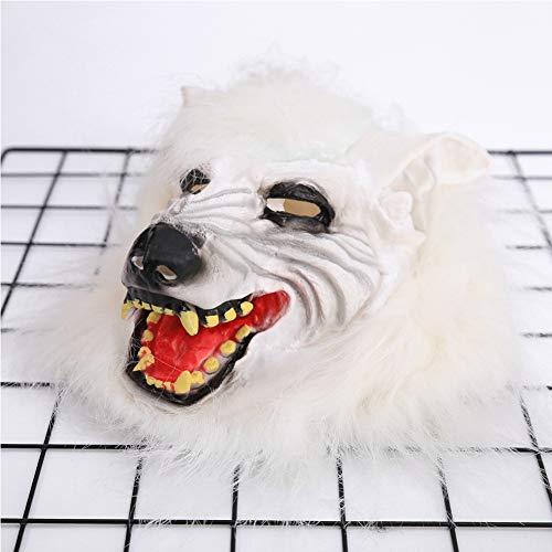 Wolf Kostüm Für Jungen - DIMOWANNGG Halloween Wolf Kopfmaske für Jungen und Mädchen, Wolf Kopfbedeckung, Horror Kostüm Ball Party Halloween Party Karneval Requisiten Geschenke,Horror lustige Maske,A