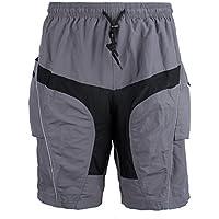 MaMaison007 Abbigliamento sportivo pantaloncini fodera staccabile imbottito 3D -XL per Santic bici bicicletta