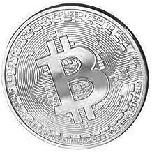 Físicos Bitcoin Moneda de cobre plata