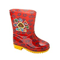 Shop 4 Shoes Boys Official RED Hey DUGGEE Wellies RAIN Boots Wellys Wellingtons Infants Size 5-10