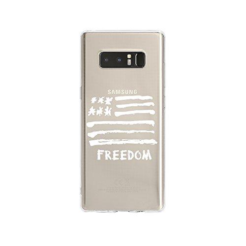 licaso Samsung Note 8 Handyhülle Smartphone Samsung Case aus TPU mit America Freedom Print Motiv Slim Design Transparent Cover Schutz Hülle Protector Soft Aufdruck Lustig Funny Druck Flagge Cover