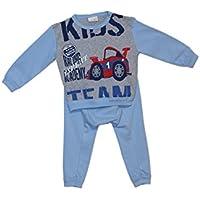 Mondo Blu - Pigiama 08-700 per neonato, 100% cotone interlock caldo cotone, manica lunga