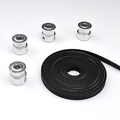 GT2 Zahnriemen Set + GT2 20 Zahnrad Pulley 5mm Welle für 3D Printer CNC Mendel Reprap Prusa