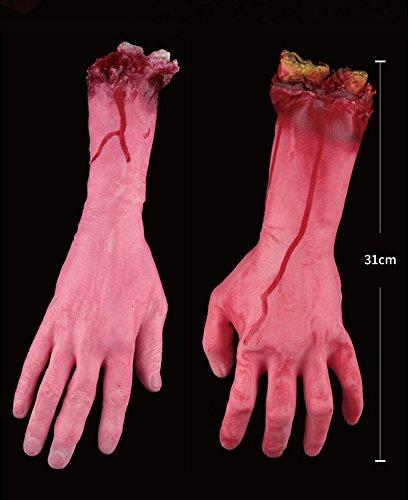 Aprigy - Gebrochene Finger Hand-Fuß-Blut-Horror-Halloween-Dekoration Severed Blutige Limbs Hand Neuheit Tote gebrochene Hand Gadgets [8 ]