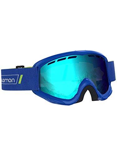 Salomon Juke Skibrille, für Kinder (6-12 Jahre), geeignet für Brillenträger, verschiedenste Wetterverhältnisse, blaue Scheibe (auswechselbar), Airflow System, blau, L40517900