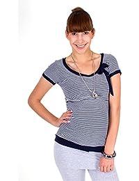 """Milchshake - Umstands-/Stillshirt - Kurzarm, Streifen - """"Sailor"""""""
