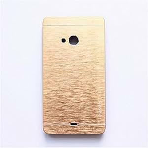 CZap Motomo Full Metal Protective Hard Back Case Cover for Microsoft Nokia Lumia 540 - Gold