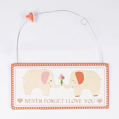 """Kleines Holzschild Elefanten """"Never Forget I Love You"""""""