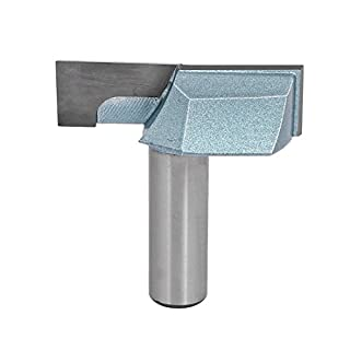 Sourcingmap 1/2-Inch Shank 2-Inch Cutting Dia Double Flute Carbide Tipped Cleaning Bottom Router Bit Cutter