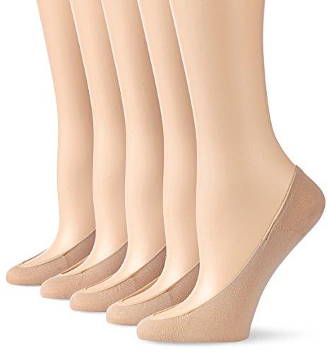 Nur Die Damen Füßlinge 625140/5er Pack Ballerina BW, Gr. 41 (Herstellergröße: 39-41), beige (teint 114)