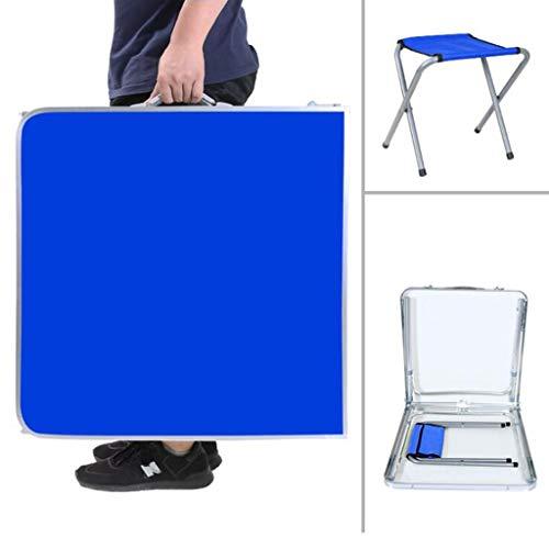 Anyer Tap Picknick Im Freien Esstisch-Barbecue-Tisch Tragbarer Einfacher Aluminium-Picknicktisch/Weiß, Blau, Orange, Grün, Braun,Blau -