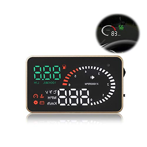Car HUD Head Up Display Windscreen Proiettore OBD2 con Over Speed   Warning/Car Clock / 3.5in Large Screen