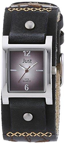 Just Watches P-0130028 48-S10626-BR-BK - Orologio da polso da donna, cinturino in pelle colore nero