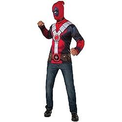 Disfraz oficial del superhéroe de Marvel Deadpool de Rub's para hombres