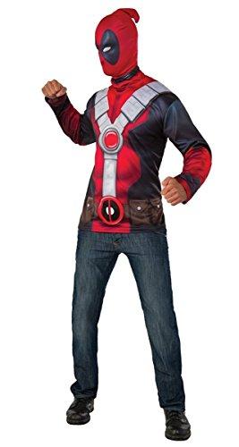 Imagen de disfraz oficial del superhéroe de marvel deadpool de rub's para hombres