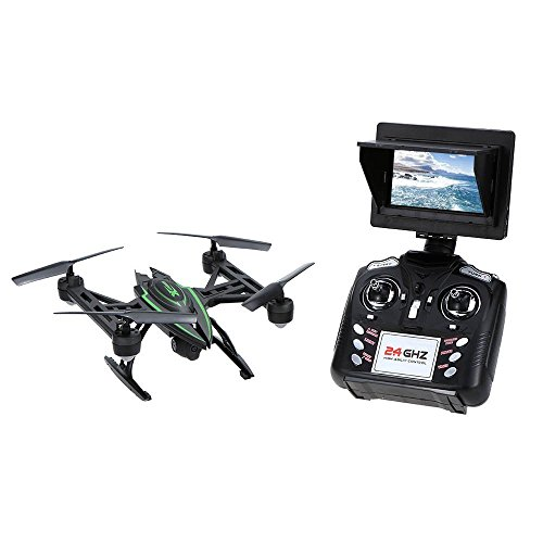 Gecoty-JXD-510G-58G-FPV-Drone-with-HD-2MP-Camera-Live-Video-3D-Flip-4CH-6Axis-RC-Quadcopter-with-FPV-Monitor-Screen-on-Remote-Altitude-Hold-CF-Mode-Headless-Mode-One-Key-Return
