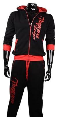 CBKTTRADE Herren Jogginganzug Trainingsanzug Hoodie Jogginghose Boxusa Thepower Design Fitnesshose Sporthose