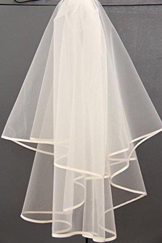 George Bride 2T simple élégance mariée voile de mariée Blanc - blanc