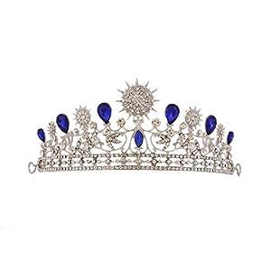 Coronet Tiara Kopfschmuck Kreis Barock Stirnband Sonne Blume Krone Hochzeit Ball Braut Krone Strass Kristall Deko Stirnband Diadem