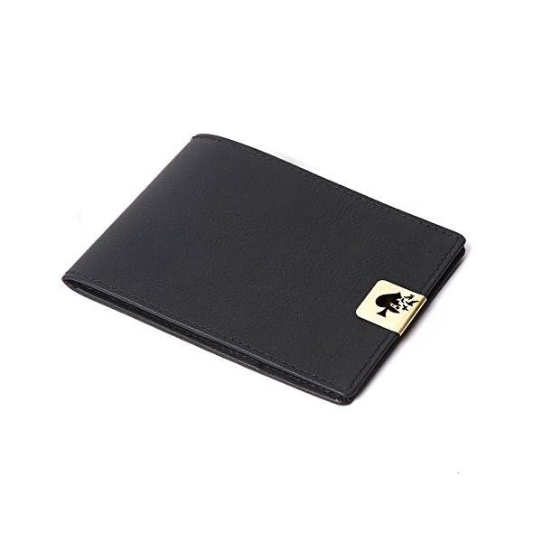 Jade Spade Leather Men's Wallet (js007_Black)