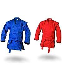 Sambo Jacke im Kurtka Stil blau inkl Gürtel Kampfsport Ju Jutsu MMA Ju Sports