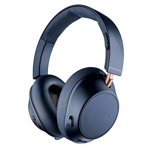 Plantronics BackBeat Go 810 Cuffie Bluetooth, Gomma Piuma di Memoria , Over-Ear, Blu-Navy, Uni