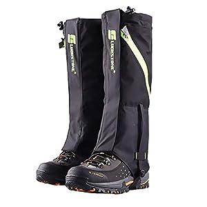 41UK6VbG0JL. SS300  - 2win2buy Outdoor Hiking Leg Gaiters - Unisex Lightweight Snow Boot Gaiters Waterproof Walking Climbing Hunting Legging Gaiters, Anti Dust Mud Snow Gaiter Prevent Insect Bite (1 Pair)