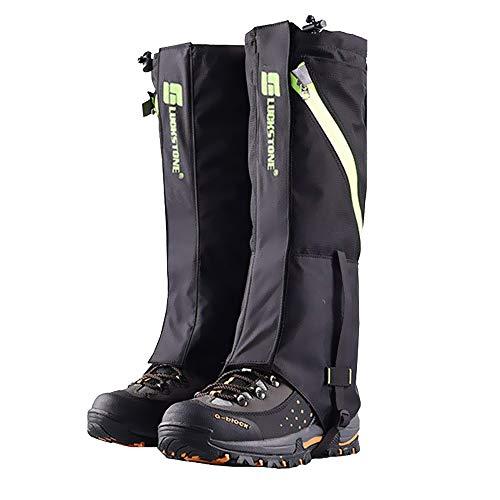 2win2buy Outdoor Wasserdicht Gamaschen, Atmungsaktiv Bein Schutz Legging Gaiter, gegen Anti Staub Schlamm Schnee zum Wandern, Klettern und Schneewandern