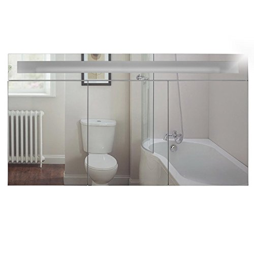 Badspiegelschrank beleuchtet BF01W120, 3-türig, 120x65x15cm, Weiss, inkl. Leuchtmittel - 3