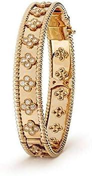 Joyevic Jewelry 18 K Gold Plated Bangle Bracelet with Crystal for Women