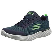 Skechers Men's Go Run 400 V2 Trainers, Green Green Textile Synthetic Trim Grn, 9.5 UK