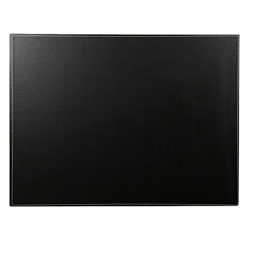 KINGFOM™ A3/A4 Hochwertig Kunstleder Schreibunterlage ,60x45cm (Schwarz)