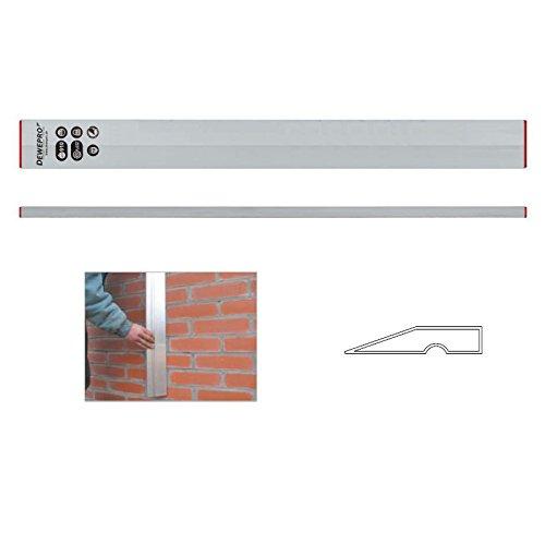 DEWEPRO® Aluminium Trapez Kartätsche - Abziehlatte - Richtscheit - Putzlatte - Kardätsche - Länge: 120cm / 1,2m