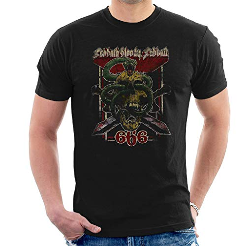 Black Sabbath Bloody Sabbath 666 Kurzarm Herren T-Shirt Schwarz Large -