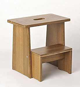 tritthocker sitzhocker holz stabil in eiche ger uchert massivholz f r kinder und die ganze. Black Bedroom Furniture Sets. Home Design Ideas