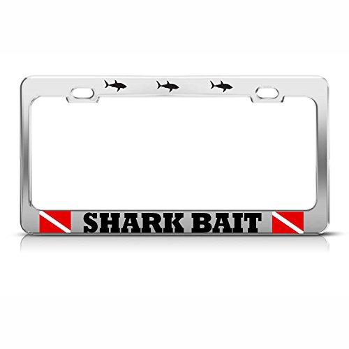 Hai-Köder-Kennzeichenrahmen aus schwerem Metall für Tauchen, ideal für Männer und Frauen