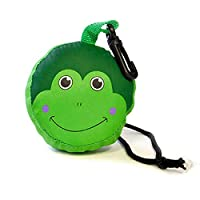Children's Novelty Frog 3D Folding Pump Bag, Green/Black