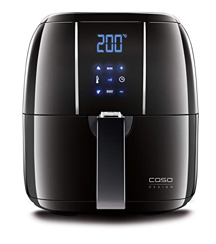 CASO AF 200 Design Heißluft Fritteuse (Füllmenge: 2.5 L, 6 automatische Kochprogramme), Innenraum aus Edelstahl, Heißluftfritteuse - für fettarmes und rundum knuspriges Garen
